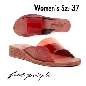 🎁📩Designer Free People Daybird Wedge Shoe NIB💄